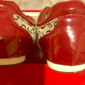 Red Guess tennis shoes